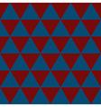 Indigo Blue Red White Triangle Background vector image