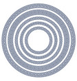 round frame with greek pattern vector image