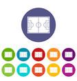 goal post icons set flat vector image