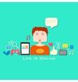 Life is Online vector image vector image
