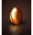 golden easter egg with ornament vector image
