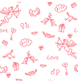 Love seamless pattern for St Valentines Day vector image