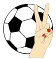 Football fans vector image