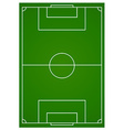 Soccer or football field aerial vector image