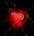 heart and wire vector image vector image