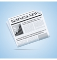 Business news newspaper vector image