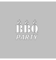 Distressed BBQ computer symbol vector image