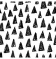 doodle hand drawn seamless pattern with triangles vector image