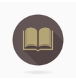 Fine Book Icon With Flat Design vector image