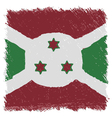 Flag of Burundi handmade square shape vector image