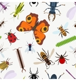 Garden insects seamless pattern lady beetle and vector image