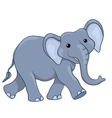 Happy elephant walking vector image