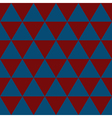 Indigo Blue Red White Triangle Background vector image