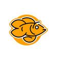 logo goldfish line style vector image