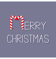 Merry Christmas Candy Cane text Flat design Violet vector image