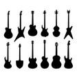 musical instruments set rock music guitar sign vector image