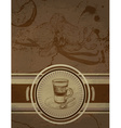 Retro Vintage Coffee Background vector image