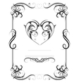 Vintage frame with heart shape vector image