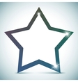 star banner - empty text frame vector image vector image