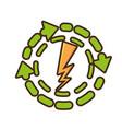 recycle energy arrows icon vector image