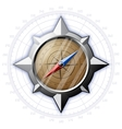 Steel compass with scale vector image