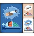 Snoring vector image