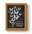 chalkboard butterfly black vector image vector image
