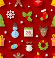 Seamless Pattern with Christmas Colorful Objects vector image vector image
