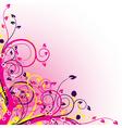 grunge floral backgrounds vector image vector image