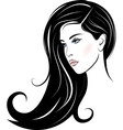 beautiful woman face vector image