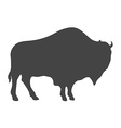 Bison Silhouette isolated on white background vector image
