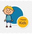boy kids happy icon vector image