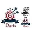 Darts sport emblem vector image