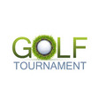 golf tournament design vector image