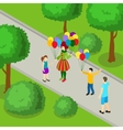 Holiday In Park Isometric Design vector image