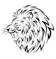 Isolated head of lion - vector image