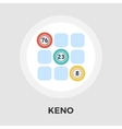 Keno flat icon vector image