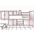 kitchen vector image