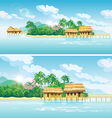 paradise islands vector image