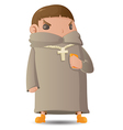 Pastor Man Character Cartoon Graphic vector image