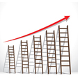 stair arrange in increase market graph concept vector image