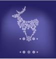 stylized silhouette of stanging deer formed by vector image