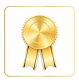 Award ribbon gold icon vector image