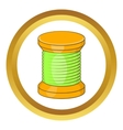 Wooden coil icon vector image