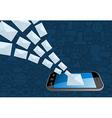 Phone email marketing icon splash vector image