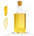 rice brand oil vector image vector image