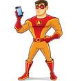 Handsome Superhero Gadget vector image