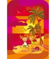 girls on a beach vector image vector image