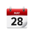May 28 flat daily calendar icon Date and vector image