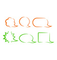 orange and green bubbles for a chat with different vector image